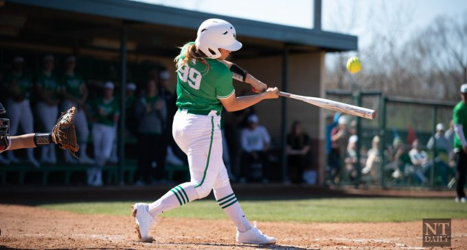 North Texas takes game one in double-header against No. 5 Oklahoma