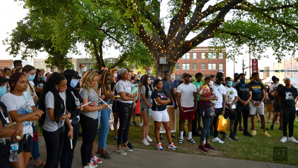 Hundreds attend Tuesday night vigil commiserating victims of police brutality