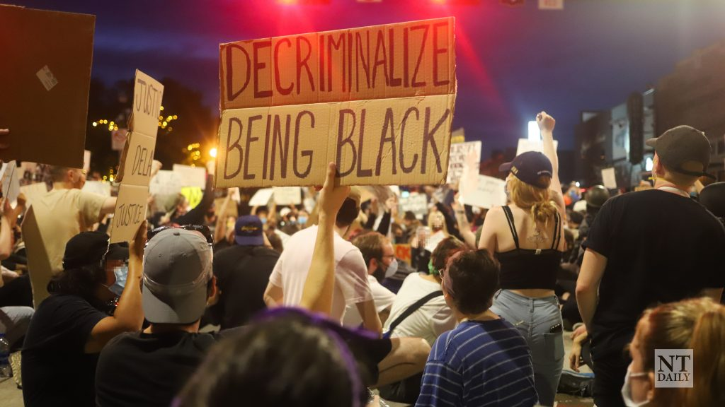 Denton protests against police brutality Monday night, joining dozens of cities