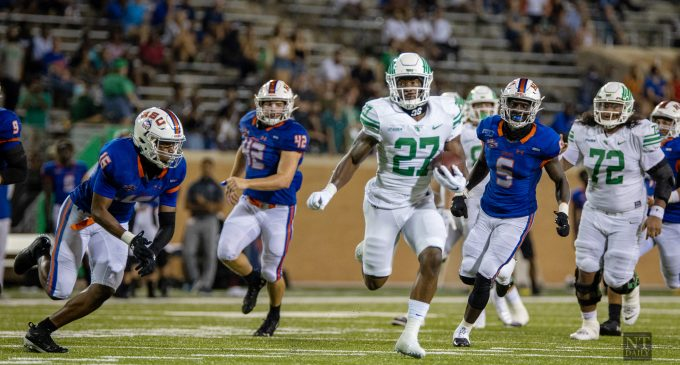 North Texas pulls away in high power offensive output on opening night
