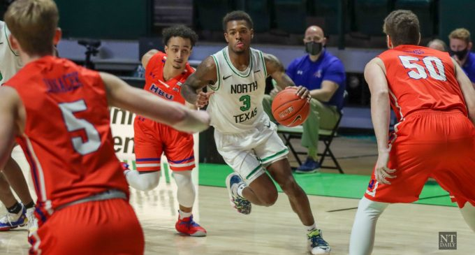 RECAP: Men's basketball rides hot shooting, stout defense to victory over HBU