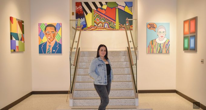 Local artist uses abstract art to convey political messages