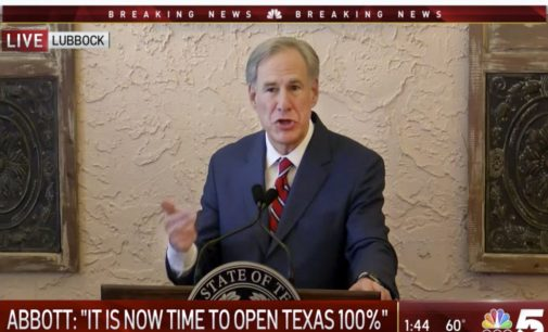 Gov. Greg Abbott to remove mask mandate, reopen all businesses 100 percent
