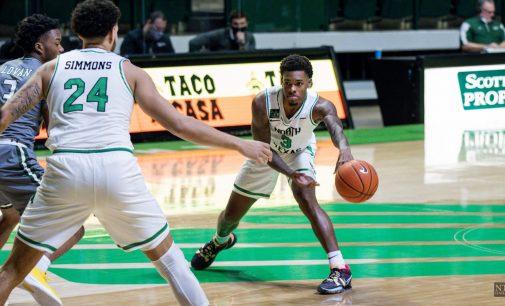 Recap: Men's basketball falls to the Blazers' dominant defense on cold shooting night