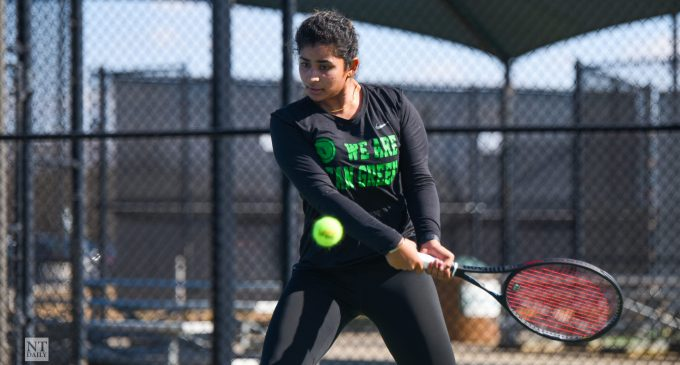 Going for it: Tennis captain's growth has led to her final challenge
