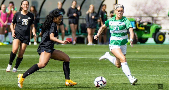 Recap: Soccer sustains first conference loss of the season to Golden Eagles