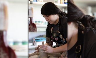 Alumna finds creative outlet in folk-art inspired pottery