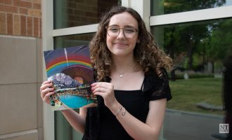 UNT design student creates art from modern technology and vintage imagery