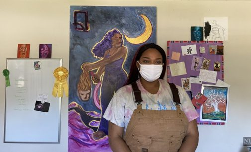 UNT student uses art to spread awareness about social issues, mental health