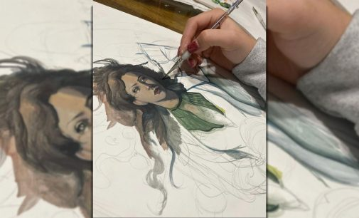 Drawing and painting senior uses fantasy to reason with life