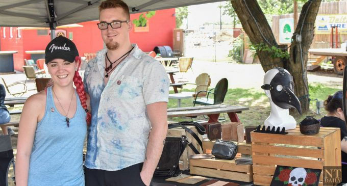 Denton couple sells goods from yarn and leather