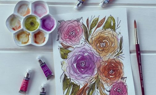 Denton artist uses watercolor paints to express emotions