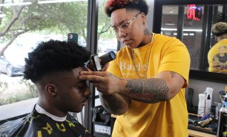 Alumna helps students through passion for hair